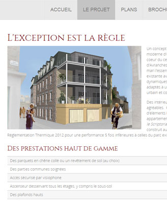 residence le scriptorial site